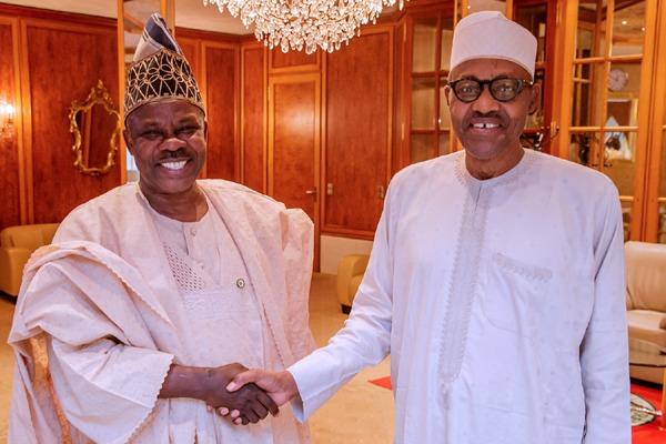 Governor Amosun meets Buhari behind closeddoor