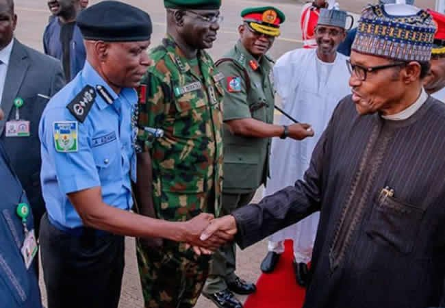 IG is losing weight so he is working very hard – Buhari