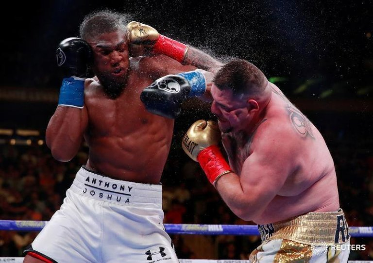Anthony Joshua defeated on TKO